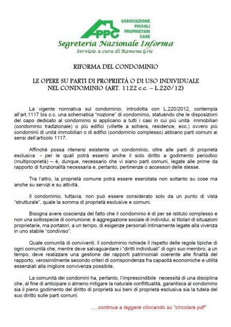 RIFORMA DEL CONDOMINIO