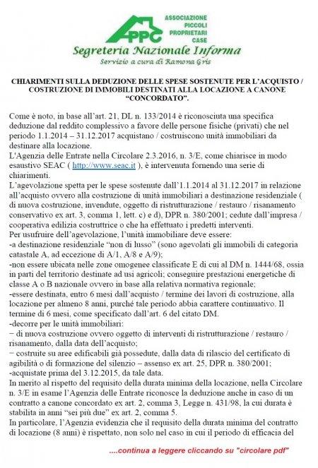 CHIARIMENTI SULLA DEDUZIONE DELLE SPESE SOSTENUTE PER L'ACQUISTO O COSTRUZIONE
